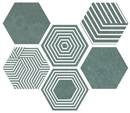 Керамогранит PIER17 Hexa Turquoise 23,2x26,7