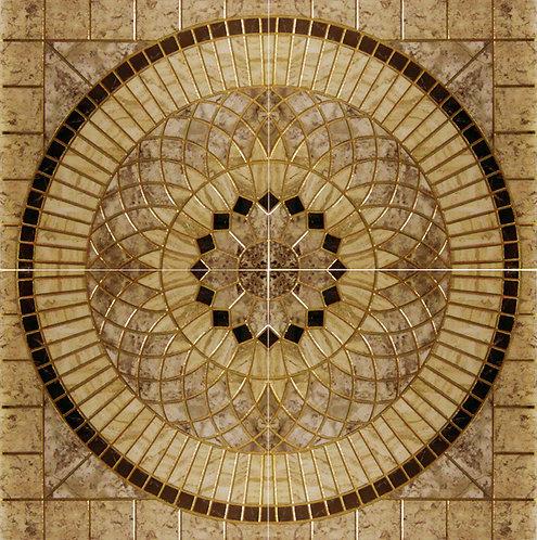 Декор RIMINI Beige Roseton 120x120 (x4)