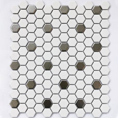 Мозаика Babylon Silver matt 260х300 чип: 23х26х6