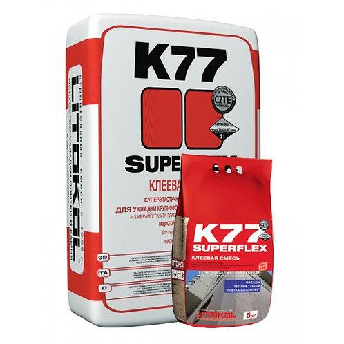 Клей SUPERFLEX K77 серый 5 кг