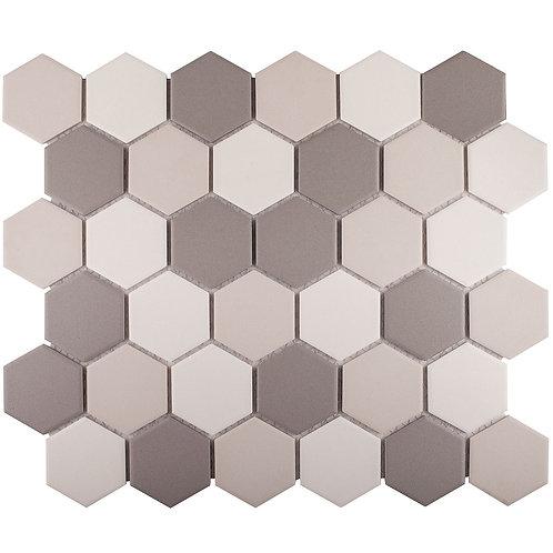 Керамическая мозаика Hexagon small Grey Mix Antislip. (JMT55221) 325х282х6