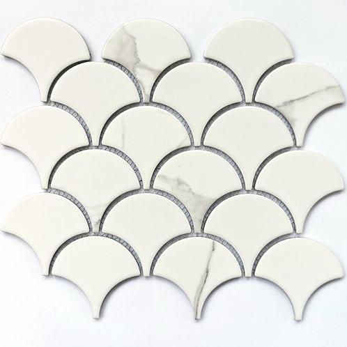 Мозаика Calacatta-scale 255х219 чип: 74,4х70х6