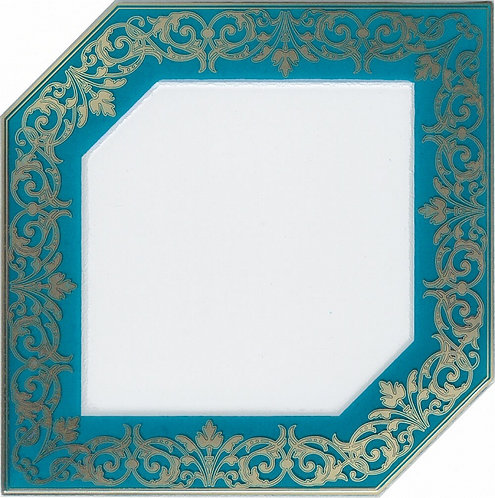 HGD\C250\18000 Декор Клемансо бирюзовый 15х15х6,9