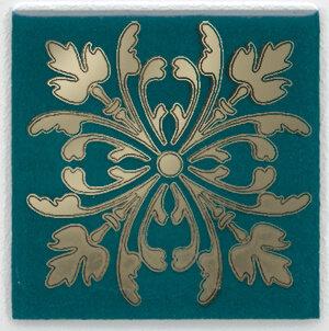HGD\F252\5Вставка Клемансо зелёный темный 4,9х4,9х6,9