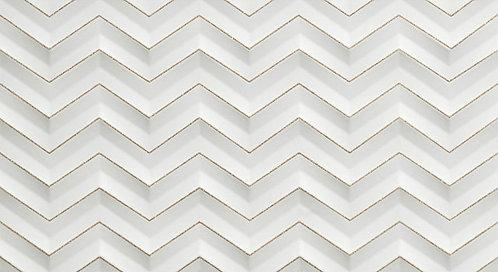 Декор настенный 3D White Chevron Glitter Matt 30,5x56