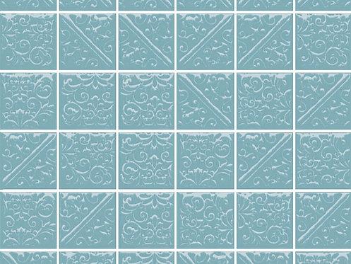Керамическая плитка 21030 Ла-Виллет бирюзовый темный 30,1х30,1х6,9