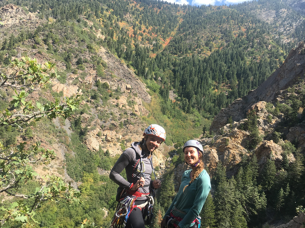 McKenzie and I on her first mulipitch and greatest climbing accomplishment to date!