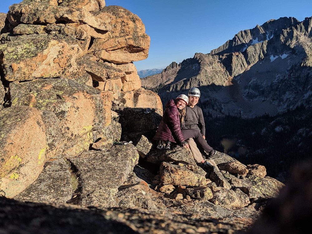 Al and I on top of Astro Elephant, Elephant's Perch, Sawtooths, ID.