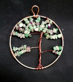 beaded tree of life pale green