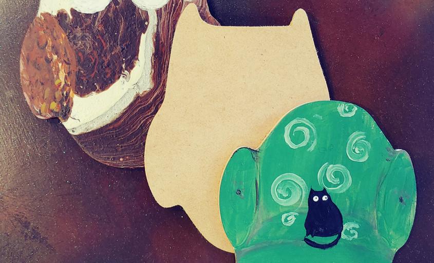 "6"" Owl cutout"