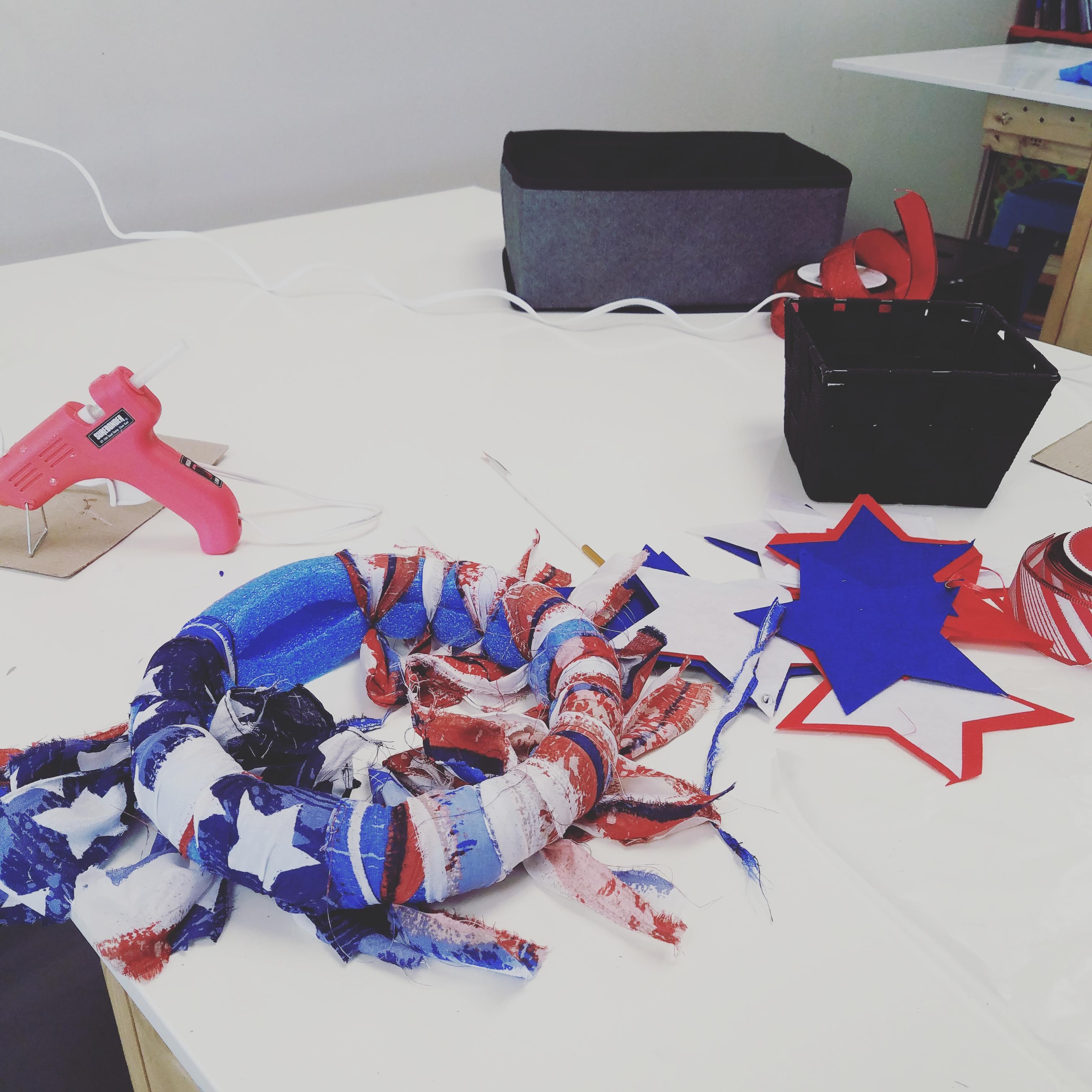 Making Patriotic Wreaths