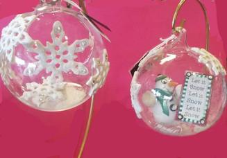Polymer Christmas Globes
