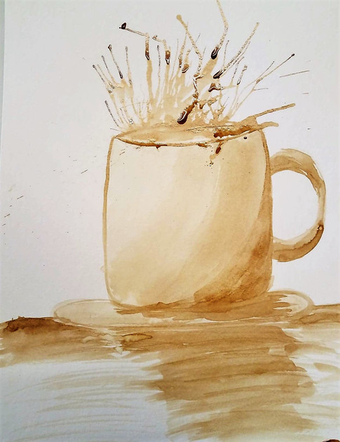 Water Color with Coffee
