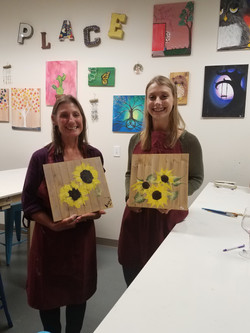 Sunflowers on small Pallets