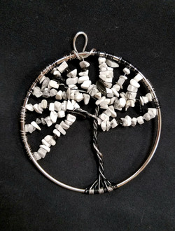 beaded tree of life White and Black