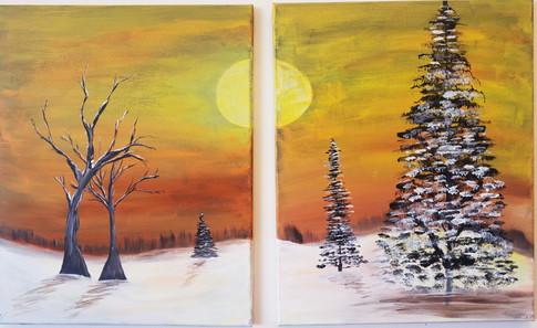 Couples Winter Sunrise