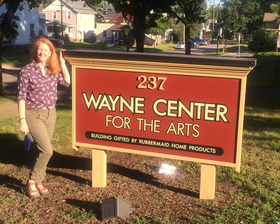 Outside the Wayne Center for the Arts in July