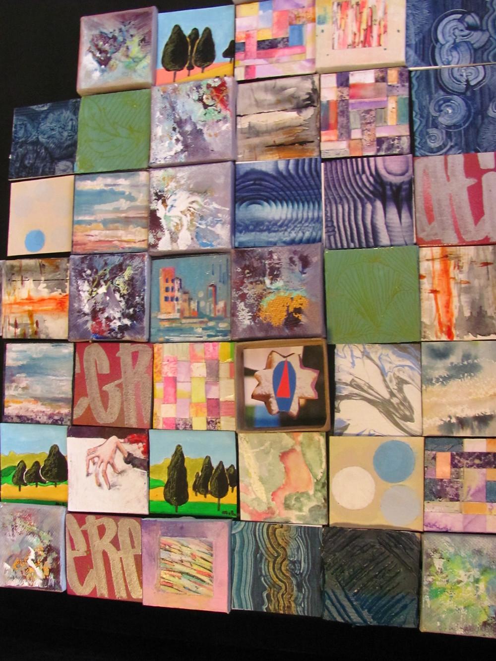 Oeuvre collective des artistes de l'artothèque en 2019