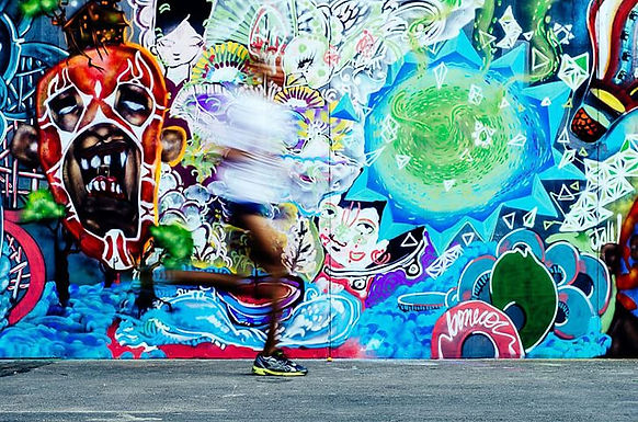 Running Into Art - Deivison Amaral - Oeuvre empruntée
