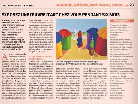 Article dans le Montreuillois du 31 janvier