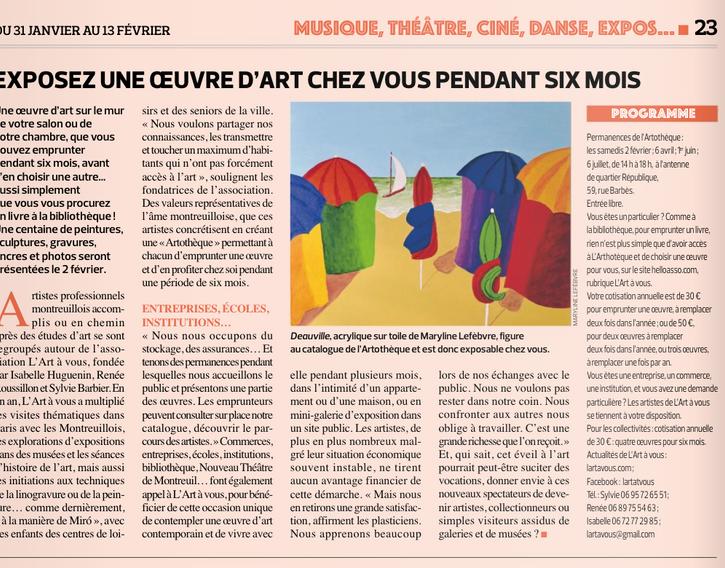 Le Montreuillois 31 janvier 2019