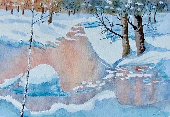 Paysage d'hiver - Pierre Tondu