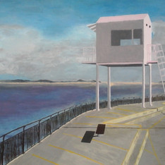 Watching over Cardiff Bay - Emilie Malleret - Oeuvre empruntée