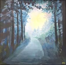 Lumière au bout de la route  - Pierre Hédrich - Oeuvre empruntée