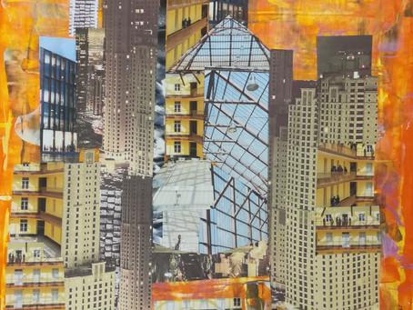 Réalisations de l' atelier collages/peintures du 15 décembre