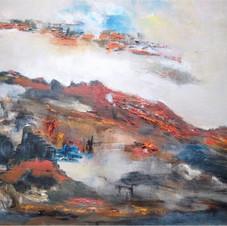 Entre les nuages - Renée Roussillon   - Oeuvre empruntée