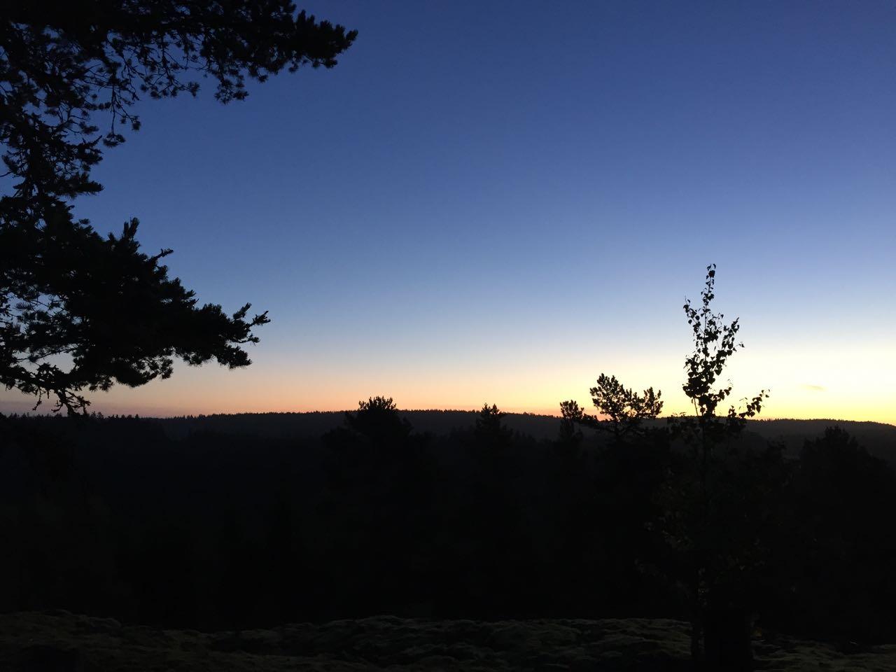 Nachts auf dem Plateau