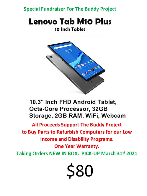 Lenovo M10 Inch Tablet Fundraiser