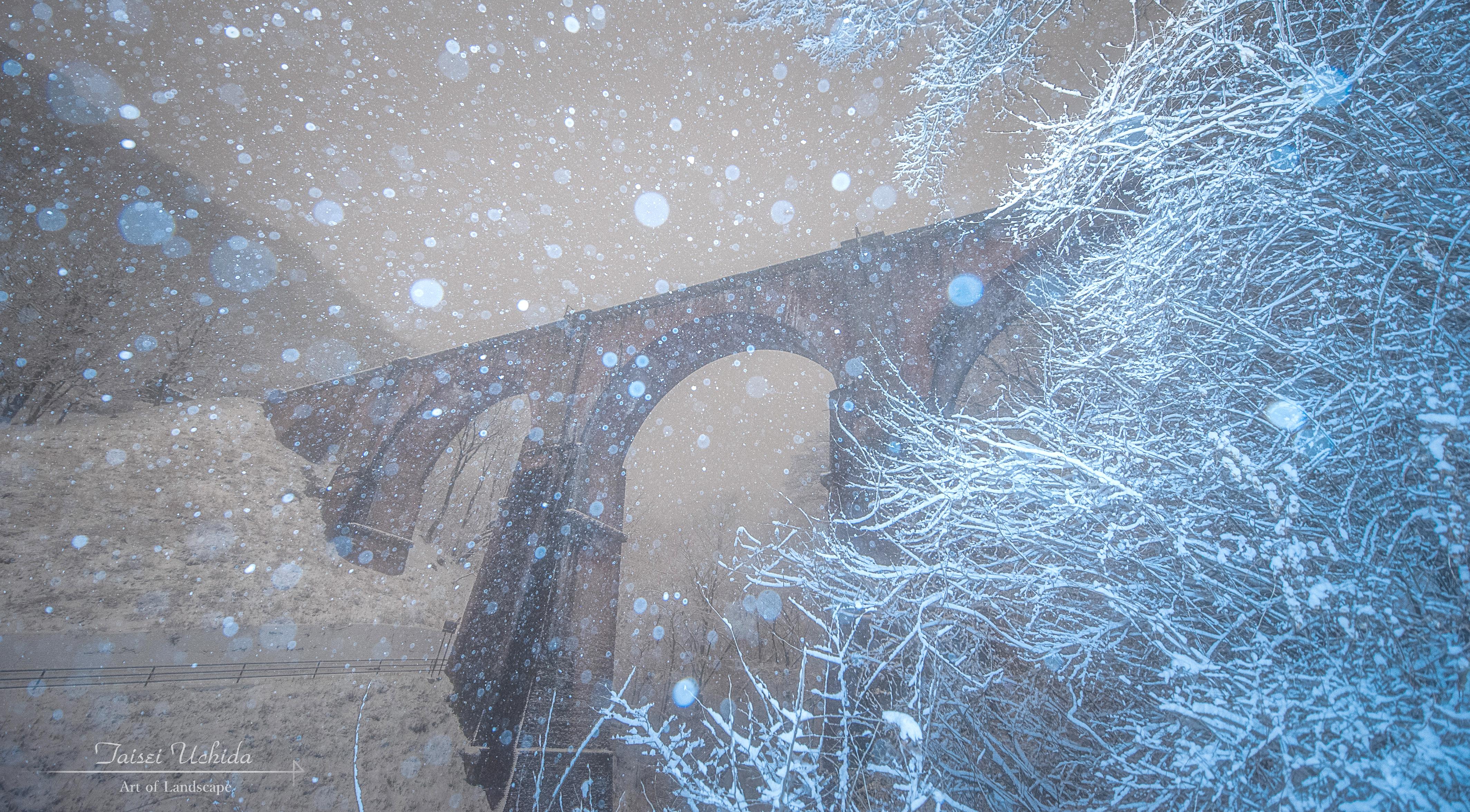 碓氷第三橋梁(雪)