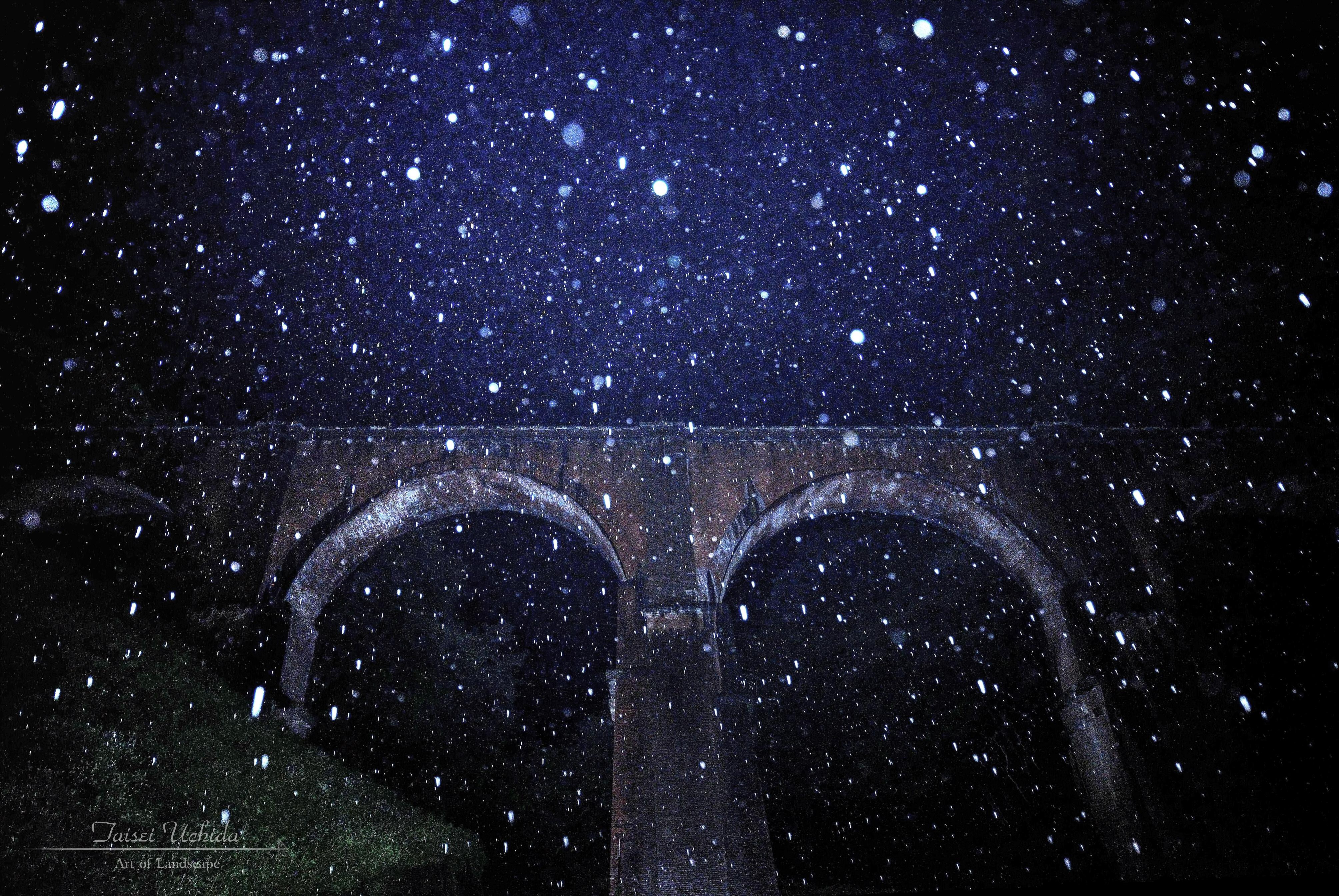 碓氷第三橋梁(雨)