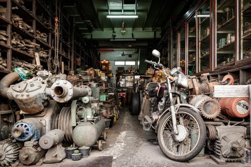 Motorcycle Shop - Print