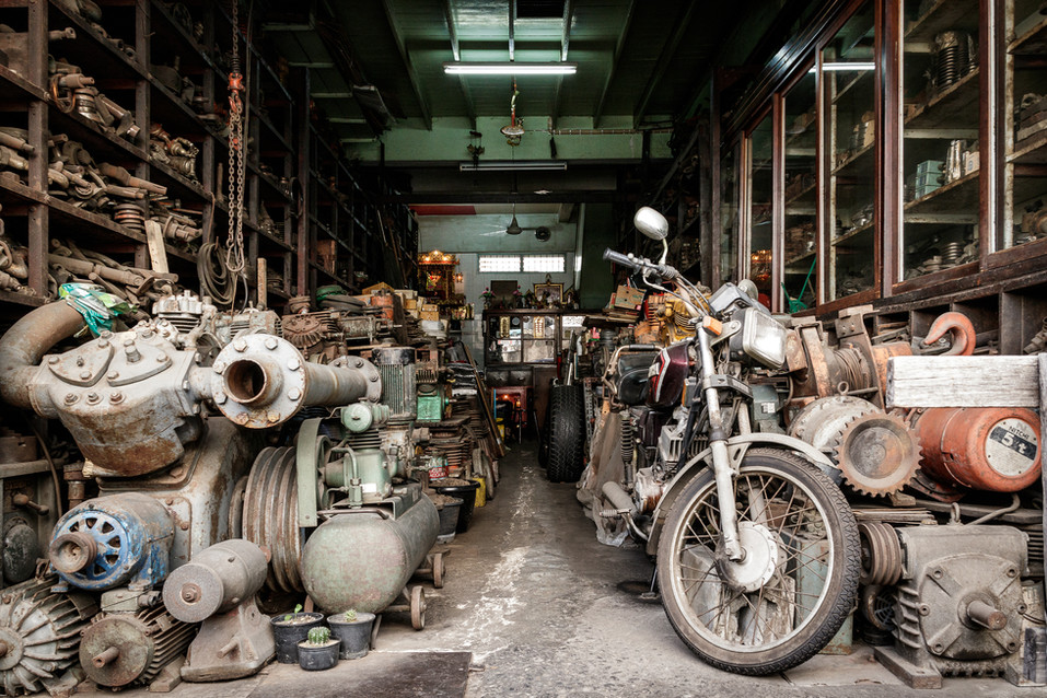 Motorcycle Shop - Print