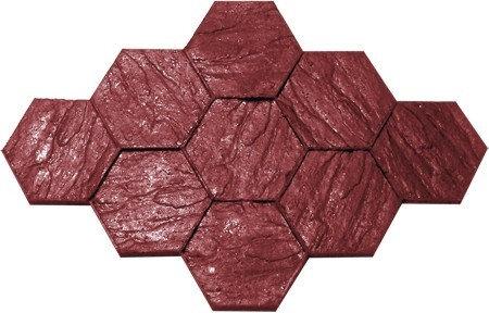 RM-30 Molde Adoquín hexag. 30cm / Hexagon slate.