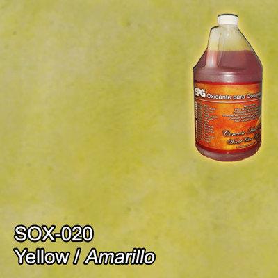 SPG® Oxidante para concreto Amarillo. (Galón)