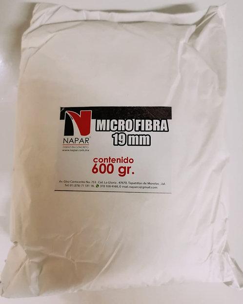 Micro Fibra de polipropileno 19 mm. (600 gr.)