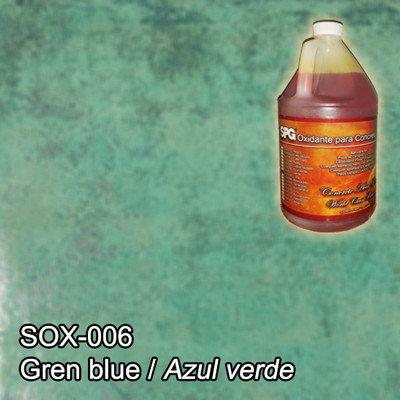 SPG® Oxidante para concreto Azul Verde. (Galón)