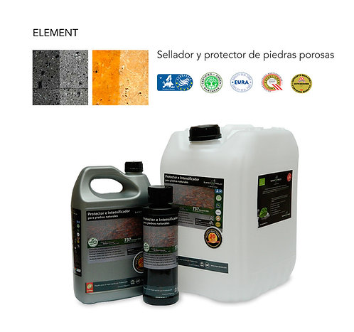 ELEMENT, Sellador para piedras Ecologico, Satinado (20 lts).