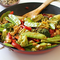 VEGETARIAN STIRFRY (AVAILABLE ON REQUEST)