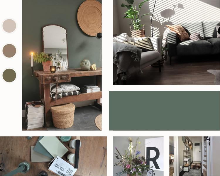 Brown Clean Grid Interior Design Moodboa
