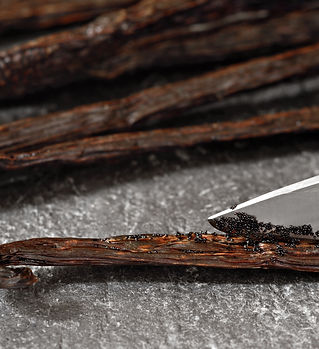 Gourmet Madagascar vanilla beans being s