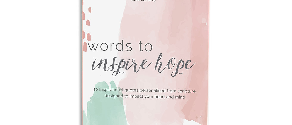 Words to Inspire Hope