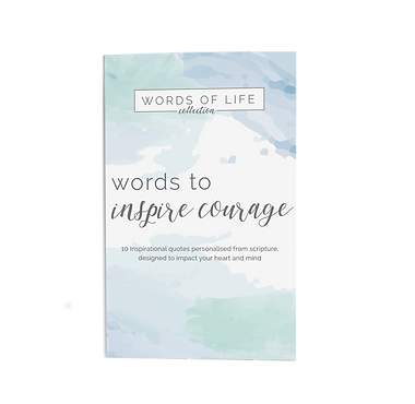 Renew your heart and mind with this collection of unique hand painted water colour designs. Includes 10 individual cards and wooden block stand.  Each card is adorned with an inspirational quote, created from Scripture, along with biblical reference on the back.