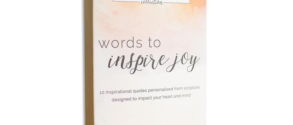 Words To Inspire Joy