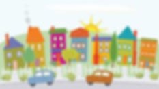 neighborhood-clipart-houses-hill-stylize