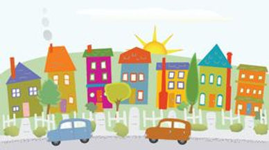 neighborhood-clipart-houses-hill-stylize
