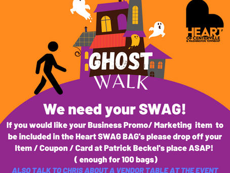 Looking for SWAG for Ghost Walk swag bag!